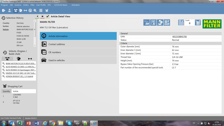 Новый интерфейс TecDoc